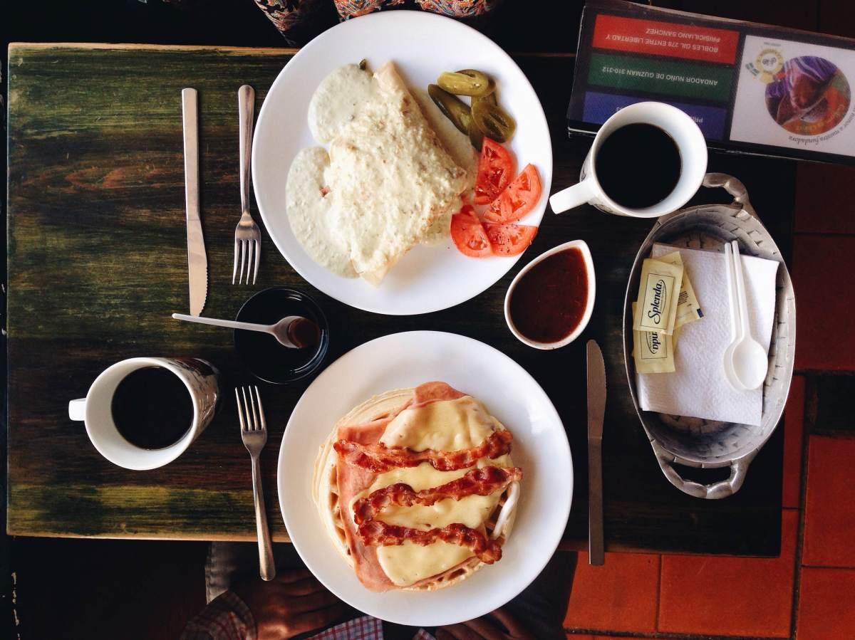 Los famosísimos waffles de La Antigua