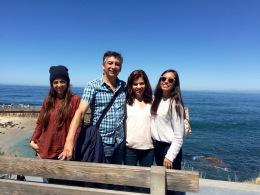 Caminando con mi familia por La Jolla
