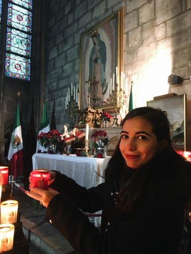 Con la Virgen de Guadalupe