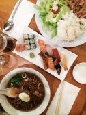 Cena en Misato