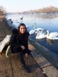 Posando en Hyde Park