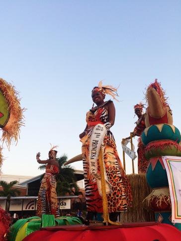 Princesas representantes de islas Afro-Antillanas/Afro-Antillean princesess