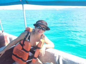 En la lancha hacia las islas/On the boat