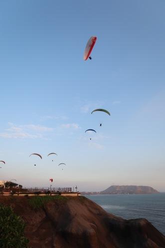 Personas en parapente/People paragliding