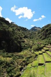 Terrazas escalonadas en Pisac/Agricultural terraces in Pisac