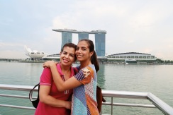 From the Merlion Park you have an amazing view of the MBS / Desde el Merlion tienes una vista preciosa del MBS