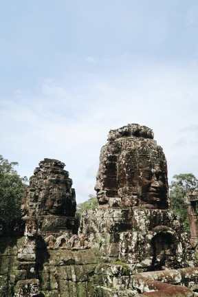 Carved faces in Bayon Temple